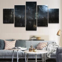 Canvas Painting Wall Art Frame Abstract Decor Pictures 5 Panel Game Bloodborne Building For Modern Living Room Prints Oil Poster