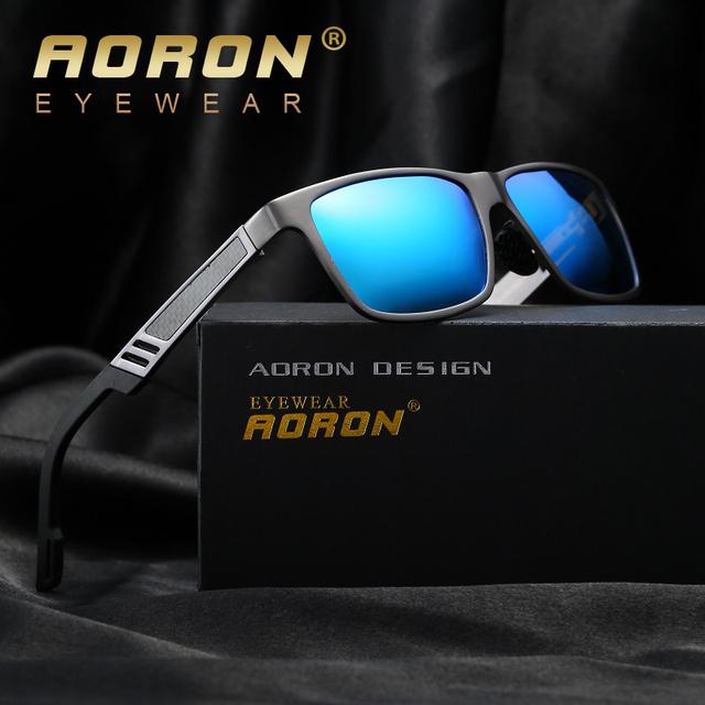 Aoron polarizadas gafas de sol de los hombres diseñador de la marca classic ocio vintage gafas de diseño de marco de metal gafas de sol oculos a6560