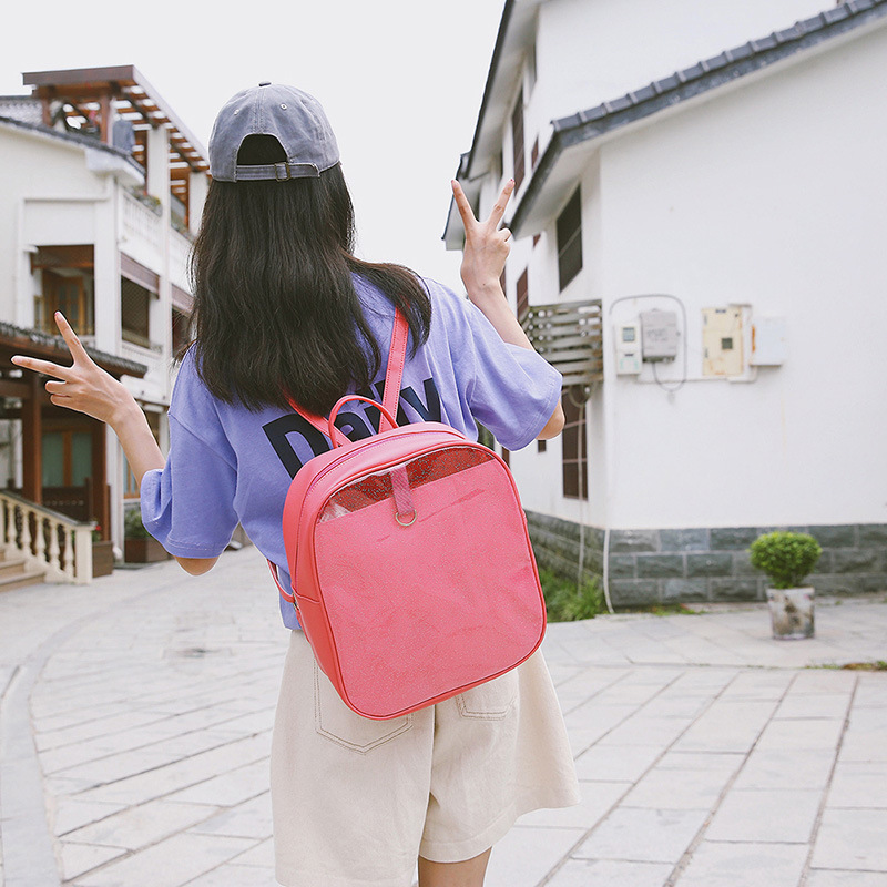 New Ita Backpack Japanese Sweet And Lovely Girl Love Transparent Mini Student Backpack Women Travel Ita Bag Cute Itabag H814