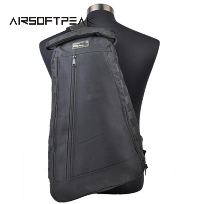 600D Airsoft Rucksack Tactical Molle Single Shoulder Bag Military Camping Hiking Backpack Hunting Bags Outdoor Sports Pack zipower pm 5139