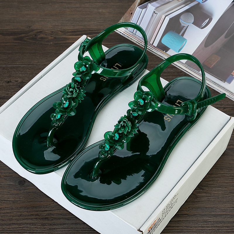 Fashion Women Sandals Jelly Shoes Peep Toe Summer Beach Shoes Ladies S