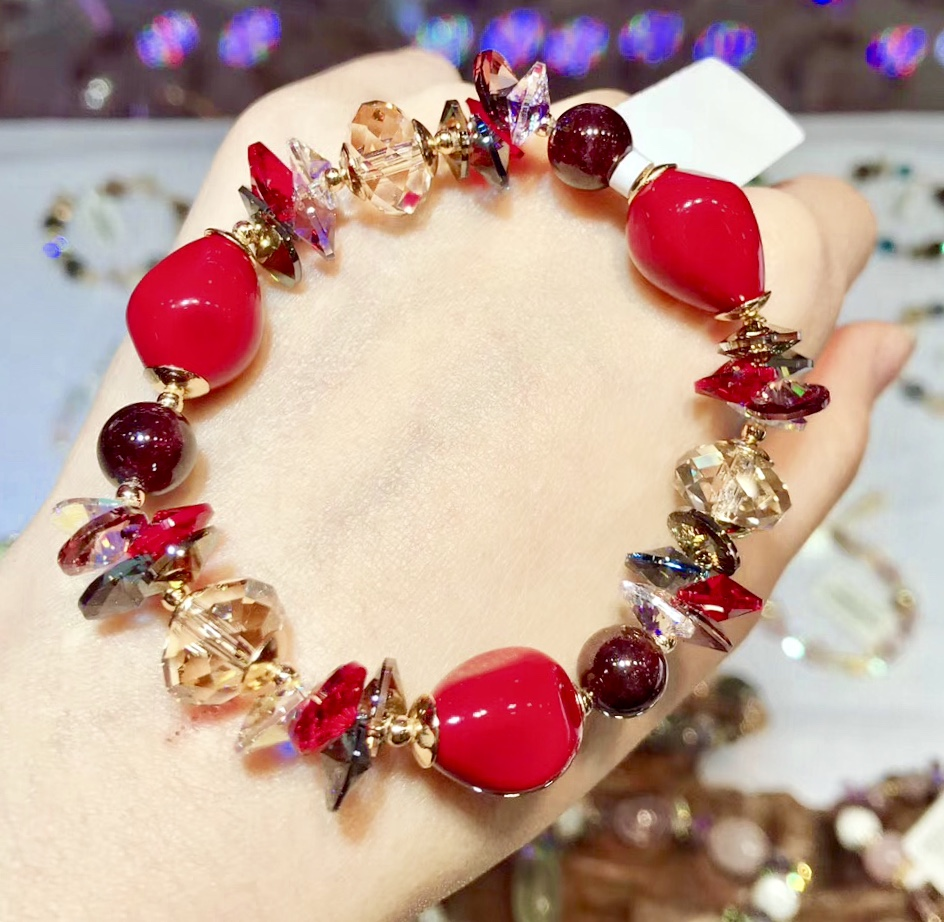 Conception originale perles cristal bricolage Bracelet fait main bijoux de fête de mariage pour les femmes cadeaux d'anniversaire pour les filles
