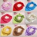 Весной и летом женщин сплошной цвет шелковый шарф женская работа в офисе шелковый шарф полиэстер шарф 60 * 60 см 22 цветов