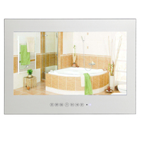 21 5inch Full HD 1080P Waterproof Vanishing Glass Mirror LED TV For Bathroom