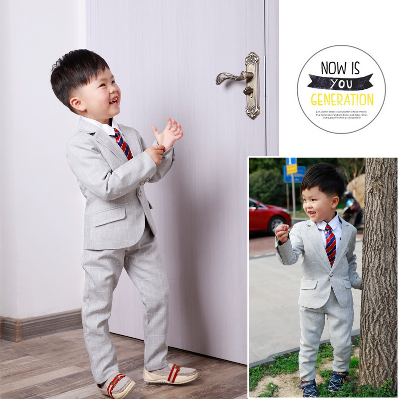 022698520a9c 100% Quality Kids Baby Boys Blazer Wedding Suits For Boys Toddler Vest T  Shirt Tie Pants Gentleman Set Cotton Clothes Preppy School Uniform We Take  ...