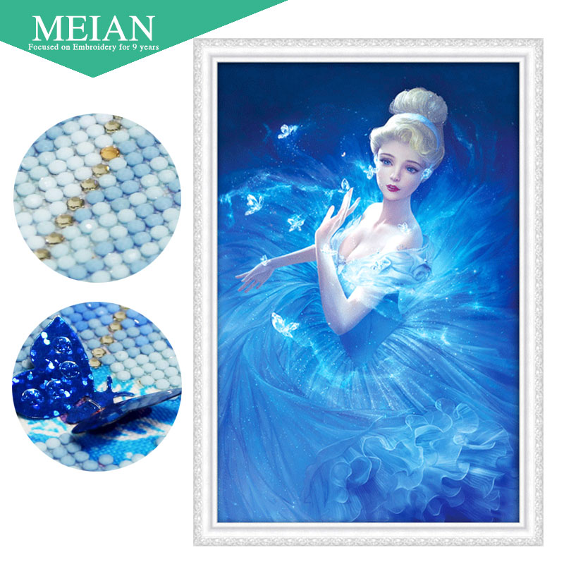 Meian 3D DIY Diamond Embroidery,5D Diamond painting,Diamond mosaic,girl,needlework,Crafts,Christmas,decorMeian 3D DIY Diamond Embroidery,5D Diamond painting,Diamond mosaic,girl,needlework,Crafts,Christmas,decor