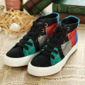 Canvas Shoes Fashion Women Casual Shoes High Top Patchwork Ladies Female Trainers Canvas Espadrilles Sapato Feminino