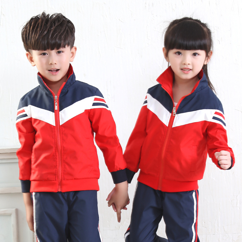 ФОТО Boys and girls autumn and autumn new style sportswear suit primary and secondary school uniforms kindergarten uniforms uniforms