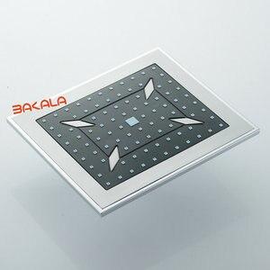 """Image 4 - BAKALA Clever 8 """"Cheap plastica ABS soffione doccia pioggia bagno vasca da bagno miscelatore rubinetto cromato Grigio ABS"""