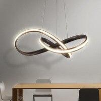 Современные светодиодный люстры для гостиной столовой Спальня светильник Дизайн творческий светодиодный Люстра Светильники повесить лам
