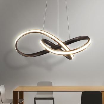 Lámparas modernas LED para sala comedor dormitorio luminaria diseño  creativo Led iluminación lámpara de colgar