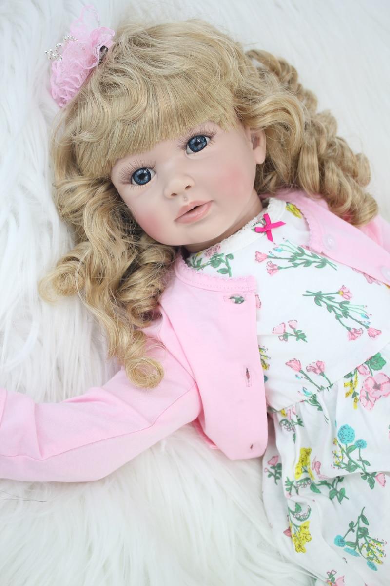 60 cm vinilo de silicona renacer muñeca juguetes 24 pulgadas rosa - Muñecas y accesorios - foto 2
