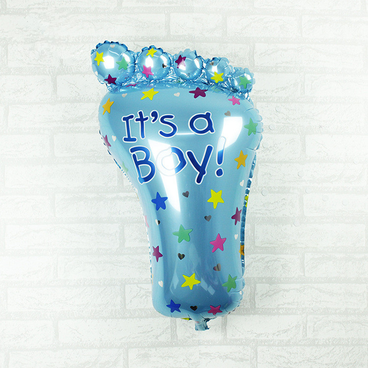 Baby Balloons for Baby Boys Big Foil Ballons Baby Birthday Balloons for Newborn Birthday Party Decoretion Foot anniversaire