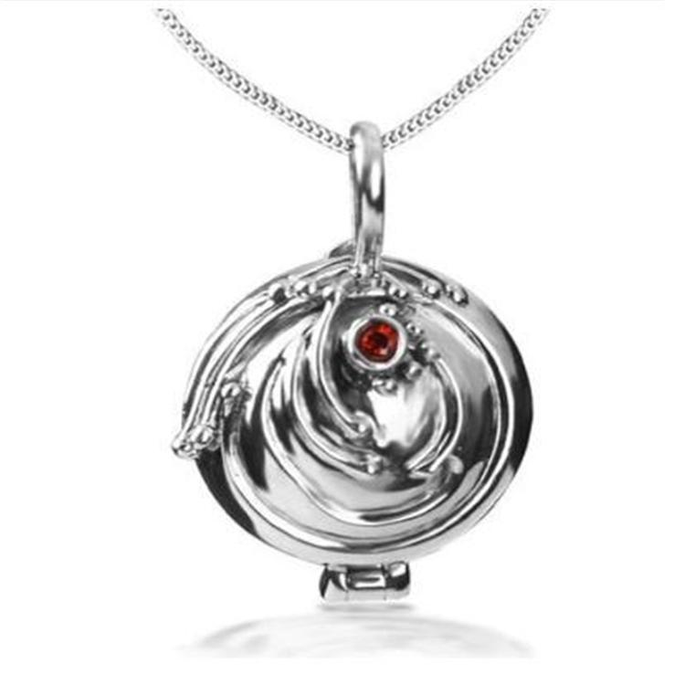 цена 925 Silver Vampire Diaries Elena Lucky Verbena Pendant Necklace, Sterling Silver Locket Charm Necklace онлайн в 2017 году