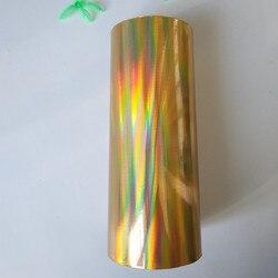 Lámina holográfica estampado en caliente Prensa en papel o plástico patrón liso película de transferencia papel caliente