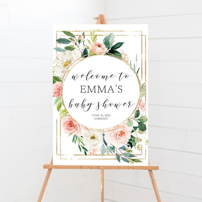 Welcome Baby Shower Sign Prints