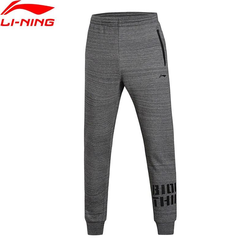 Li-Ning мужские баскетбольные спортивные брюки с теплой подкладкой из 100% хлопка AKLM671 MKY321