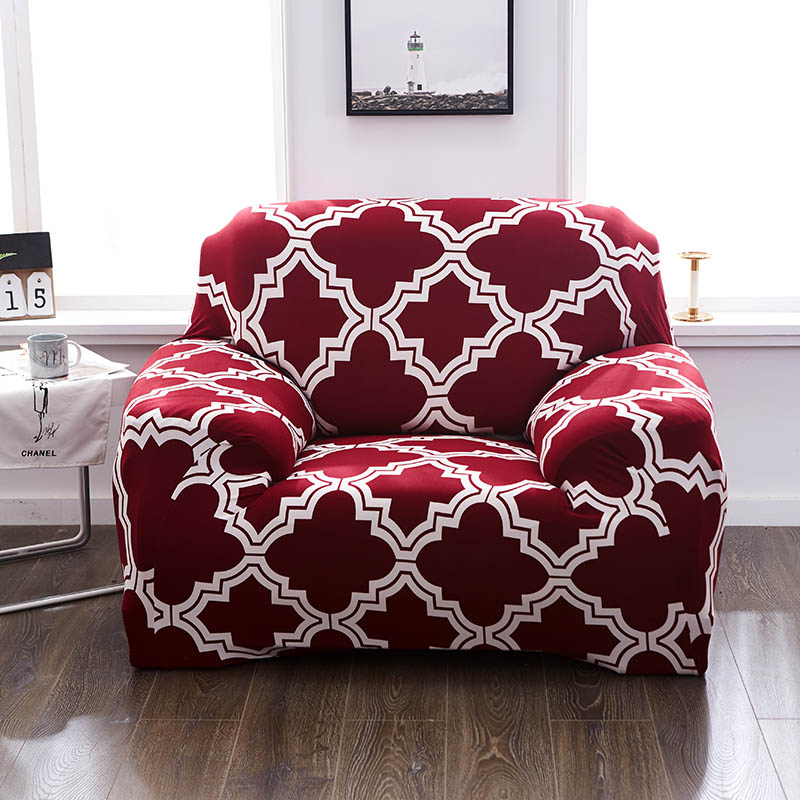 red slipcovers sofa cover all-inclusive slip-resistant ...