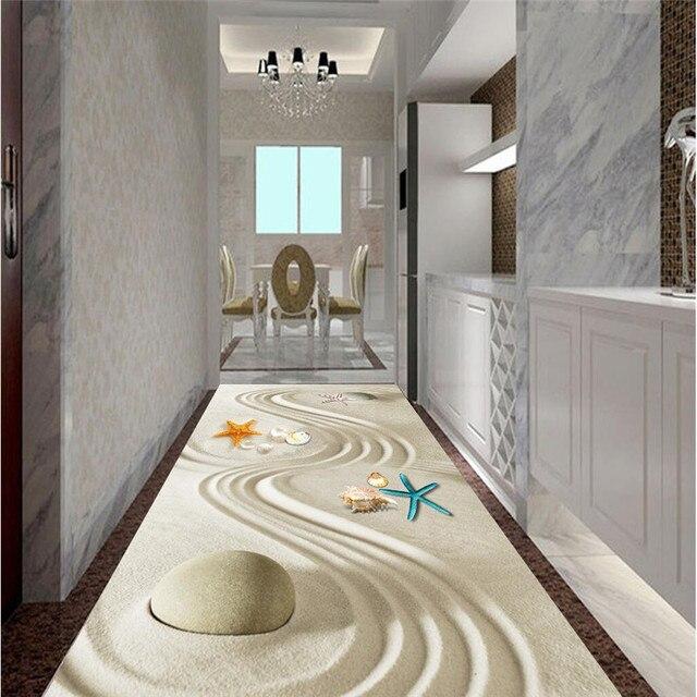 La peinture de sol HD sable ligne art bio Étanche Salle De Bains ...