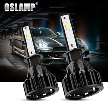 Oslamp T5 H1 LED Headlight Bulbs H1 Led Headlamp Bulbs 3pcs COB chips Auto Headlamp Led light DC12v 24v For Civic(China)