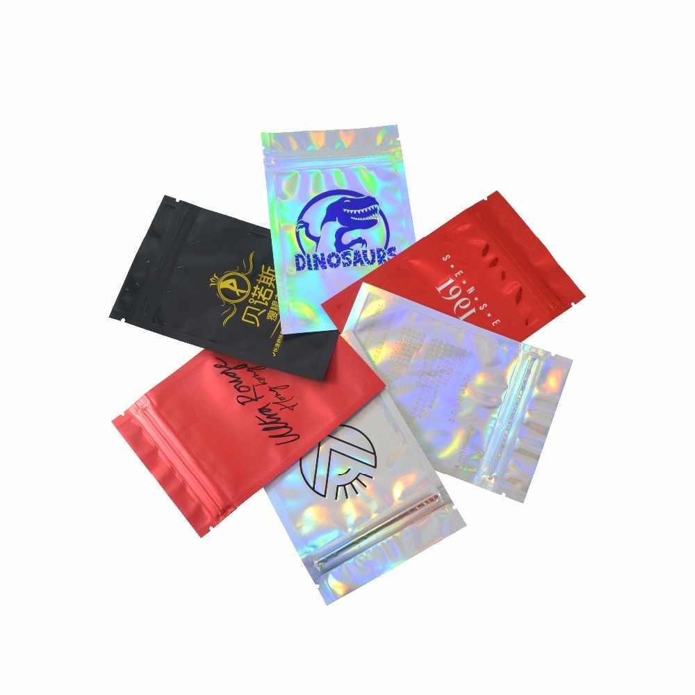 Sacos personalizados da folha de alumínio da impressão do logotipo personalizado com logotipo personalizado