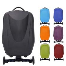 Новый 21 1,8-дюймовый жёсткий-В виде ракушки колесиках Колёса скутер Чемодан чемодан с скейтборд для путешествий Бизнес wml99