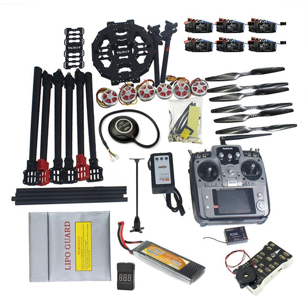 ARF/PNP Kit bricolage ensemble complet Hexacopter GPS Drone avion Kit Tarot FY690S cadre 750KV moteur PIX 2.4.8 32 bits contrôleur de vol