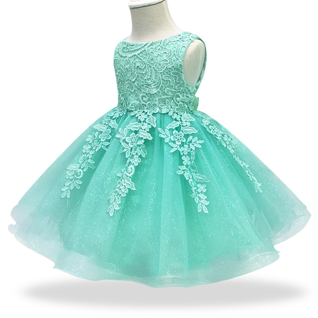Newborn Baby Girl 1 Year Birthday Dress lace Tulle Toddler Girl Christening Dress Infant Princess Party Sweet dress