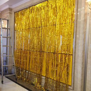 3M*1M Foil Rain Curtain Gold Wedding Backdrop Curtain Bithday Party Background Curtain Decorations Fringe Curtain Party Supplies