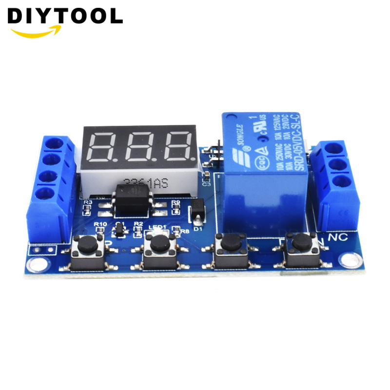 5V//12V 2 Channel Relay Digital LED Delay Timer Control Switch Relay Automation