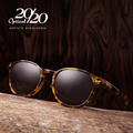 Классические Поляризованные Мужчины Солнцезащитные Очки Женщины Марка Дизайнер Ацетат Круглые Солнцезащитные Очки Вождение Оттенки Унисекс Очки Óculos AT8001