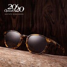 Classic Gepolariseerde Mannen Zonnebril Vrouwen Merk Designer Acetaat Ronde Zonnebril Rijden Shades Unisex Eyewear Oculos AT8001