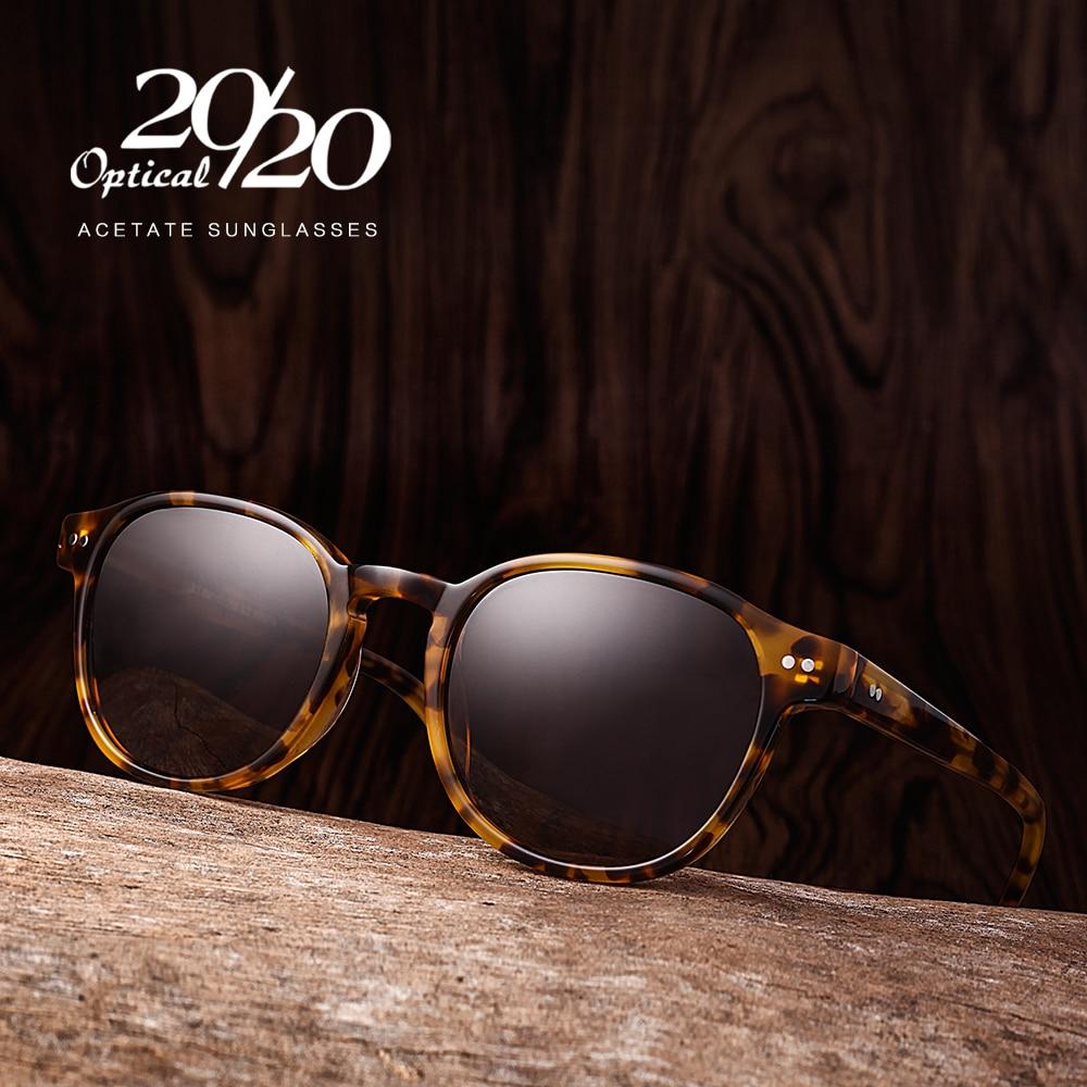 Klasik Terpolarisasi Pria Kacamata Wanita Merek Desainer Asetat Putaran Kacamata Matahari Mengemudi Nuansa Unisex Eyewear Oculos AT8001