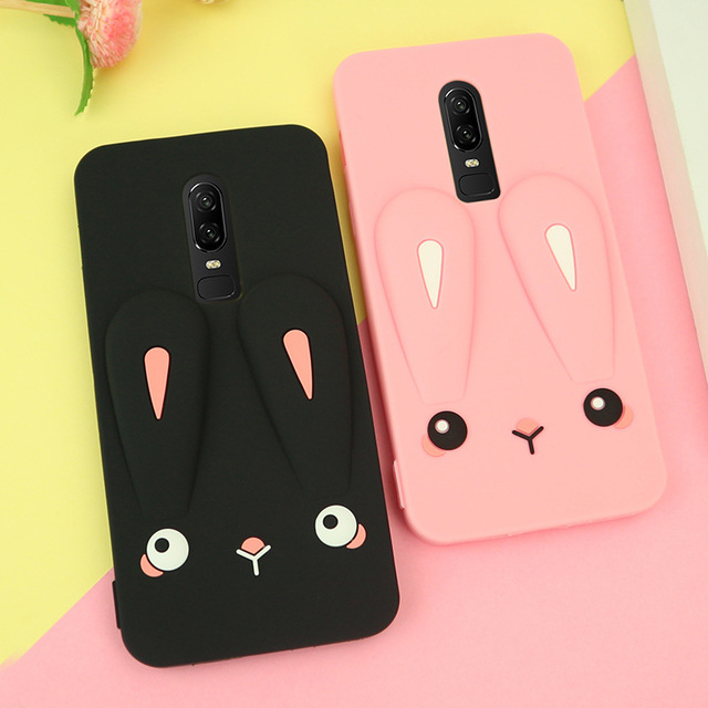 best service 3ebd2 8d609 US $4.49 10% OFF 3D Cute Cartoon Rabbit Case for Oneplus 6 Phone Case Cover  for Oneplus6 1+6 One Plus 6 Cases Rubber Soft Silicone Cases Capa-in ...