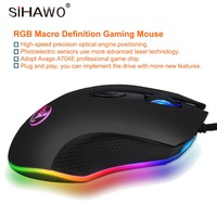 Wired Mouse Mechanical Macro Definition Gaming Mouse Optical Engine Positioning Adjustable 4800 DPI Custom Macro Editing