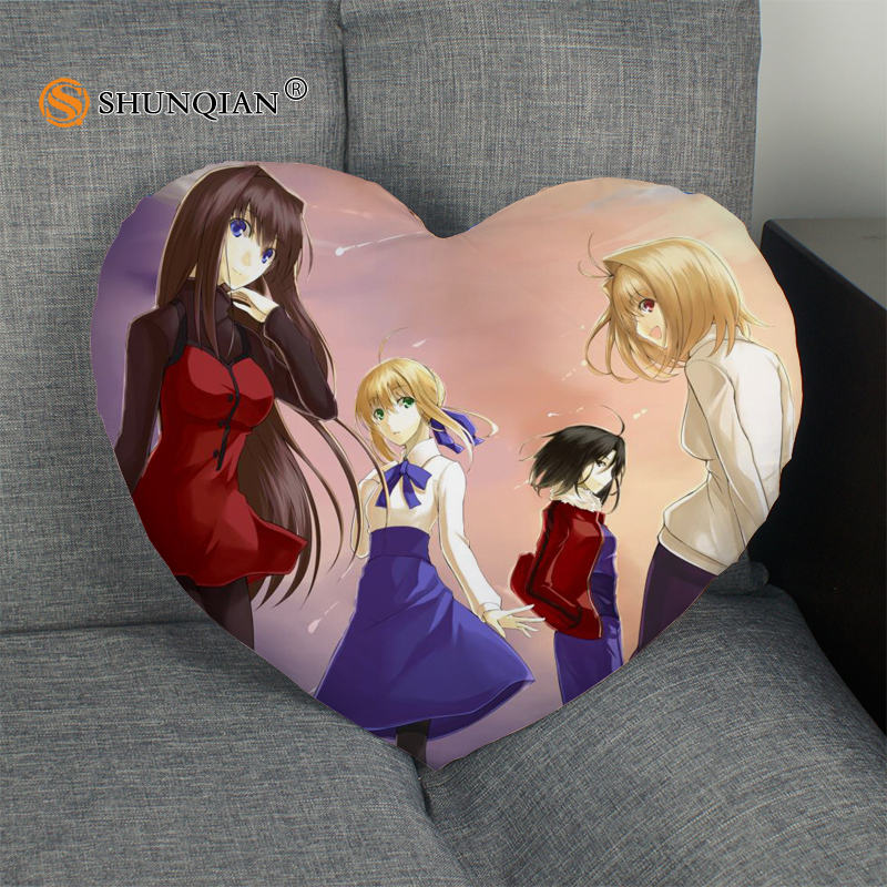 The Garden Of Sinners Heart Shape Pillow Cover Custom Kara