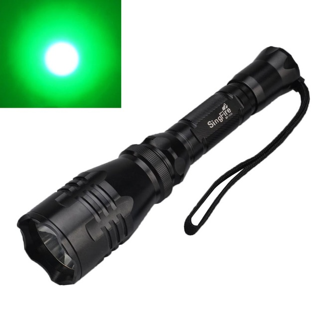 High Quality SingFire SF 55B 280lm 1 Mode Green Light Tactical Flashlight Green LED Lamp  LED Gallery