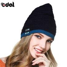 EDAL Wireless Bluetooth Winter Warm Beanie Hat Smart Cap Hands Free Earphone Headset Speaker Mic Hats