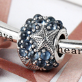 925 Sterling Silver Jewelry making Charms fit Brand Bracelets Oceanic Starfish Bijoux Female Fashion Beads Nature Lovers