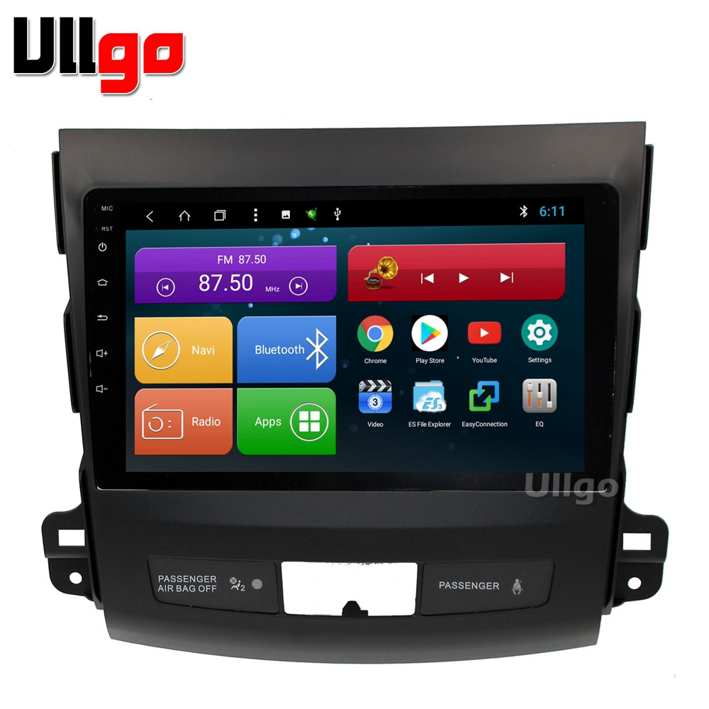 9 pouce Android 8.1 Unité De Tête de Voiture pour Mitsubishi Outlander 2006-2012/Peugeot 4007/Citroen C- crosser avec BT RDS Radio Miroir-lien