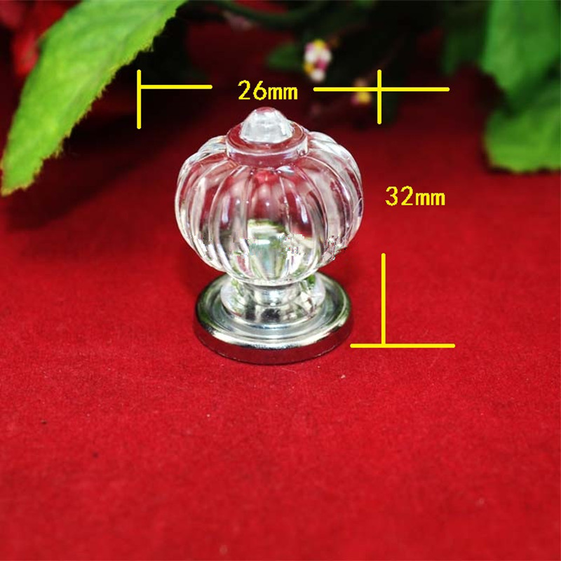Bulk Modern Crown Handle Acrylic Knobs and Handles Door Alloy Handle Cupboard Drawer Kitchen Pull Knob Furniture,26*32mm,40Pc
