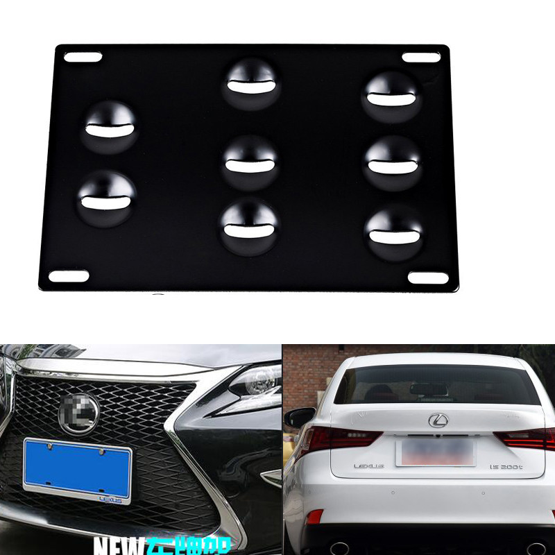 New Bumper Tow Hook License Plate Mounting Bracket Holder For LEXUS ...