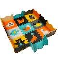 9 pçs/lote com cercas eva puzzle esteira do jogo do bebê tapete puzzle de frutas esteira do jogo da espuma dos desenhos animados de eva, piso pad para jogos infantis tapetes SGS