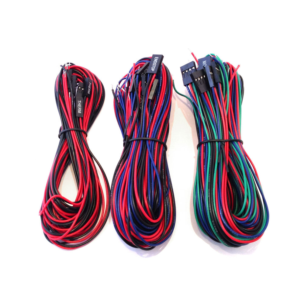 For RAMPS 1.4 3D Printer Controller Board Wiring Kit - 20 Wires RepRap Mendel Max Prusa RAMPS 1.4 board cable kit/set