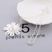 INKSEE 1 pieza blanco nuevo circonita cúbica Micro ajuste hueco flor grandes collares pendientes Vintage para las mujeres