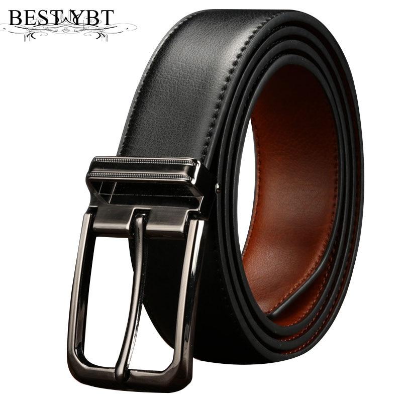 Best YBT New Men PU leather belt simple Alloy Pin buckle Men belt casual cowboy pants fa ...