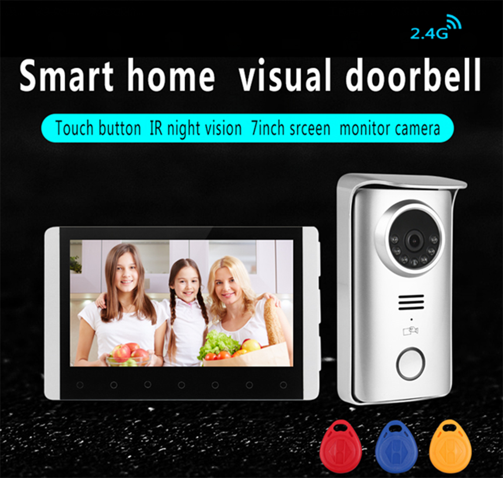Digital wireless video intercom doorbell camera and DVR