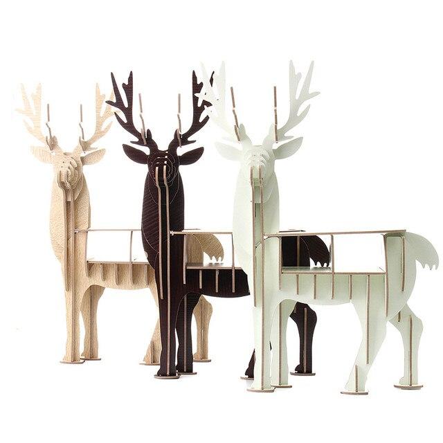 Schon KiWarm DIY Moderne 3D Holz Puzzle Modell Elch Hirsche Tier Home Office  Ornament Dekor Schreibtisch Regal