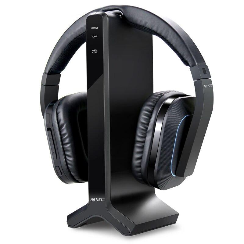 bilder für Artiste D1 Drahtlose 2,4G 30 Mt Abstand HIFI Noise Cancelling TV Kopfhörer DVD TV Video Gaming Headset Kopfhörer für Computer TV