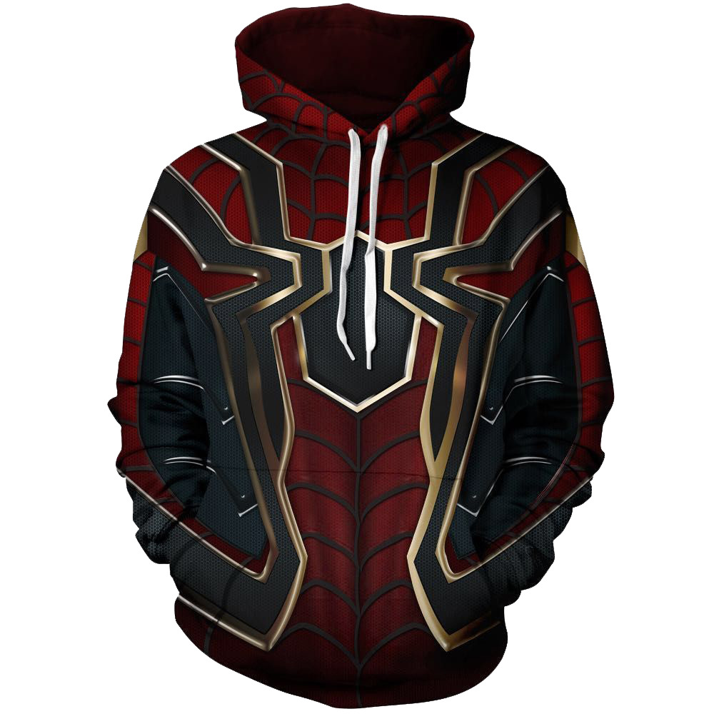 Web of Spider-Man Venom Spider-Man Sweatshirts Cosplay Costume Autumn men and women anime 3D Printing Jacket Hooded sweater